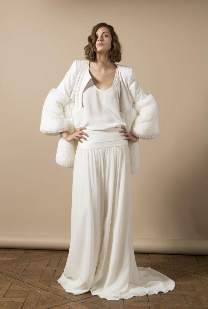 Noivas quentinhas - casaco quente para noiva por Delphine Manivet #casarcomgosto