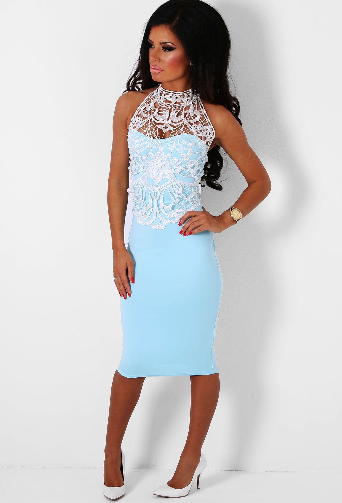 Serenade Blue Lace Midi Dress | fashion | Pinterest | Blue lace midi ...