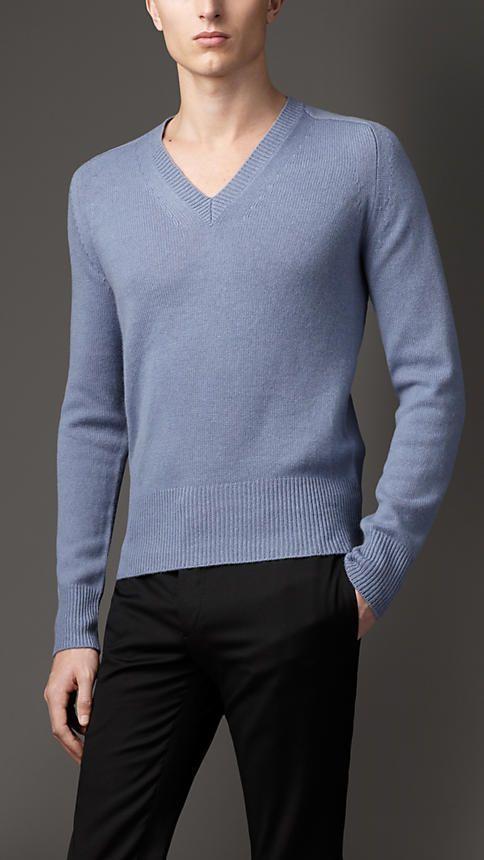 Burberry London V-Neck Cashmere Sweater