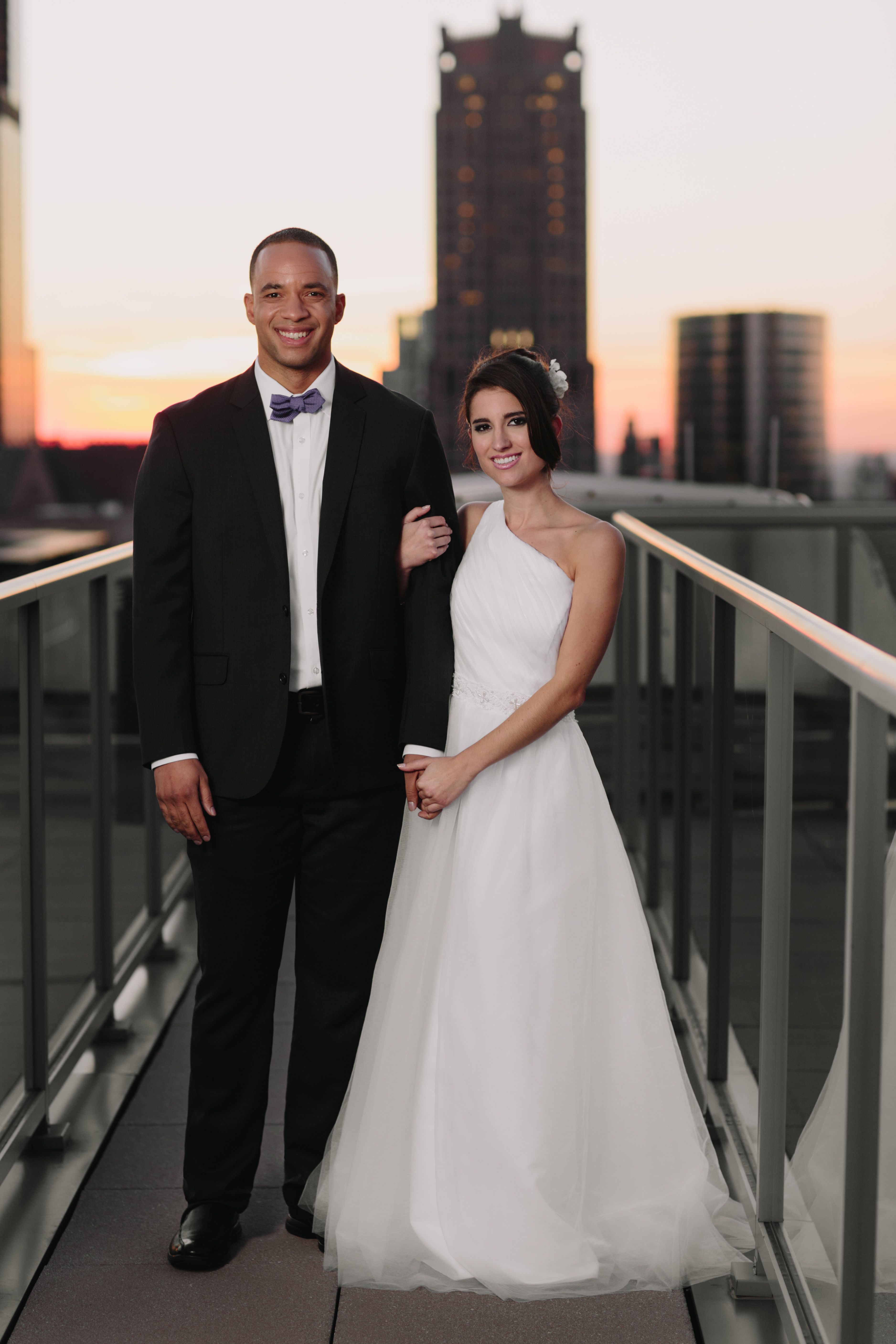 Chicago wedding dress shops  Chicago Skyline Rooftop Wedding  Dresses by MaCherie Bridal