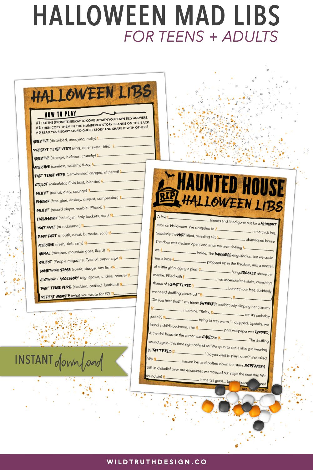 halloween mad libs for teens adults on a quest for hilarious halloween games for