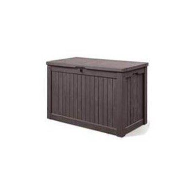 Keter 150 Gallon Resin Deck Box Back Deck Cushion