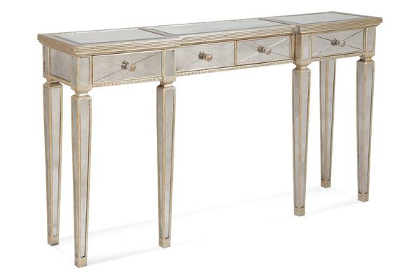 Mirrored Hall Console Table with Silver Leaf Finish love it