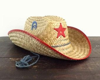 ae8108e27a00a Child s straw sheriff hat