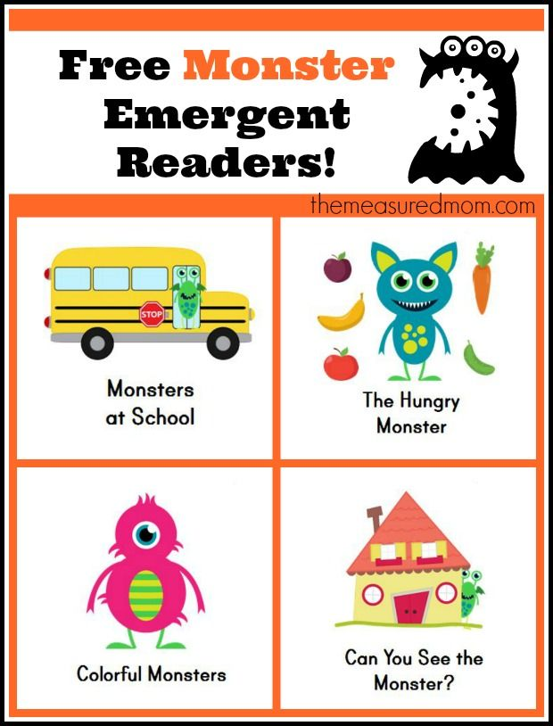 Monster Books for Kids: Free Emergent Readers | Reading & Writing ...