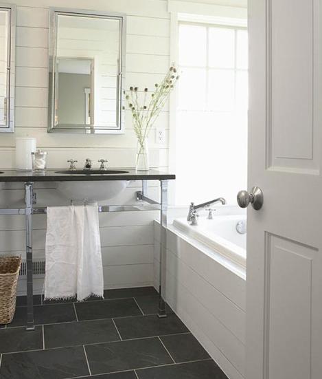 If Not Hardwood I Like Slate Tiles For Floor Bathroom