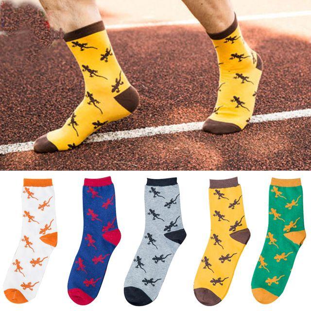 d9409924042 50pairs animal Jacquard novelty men socks lizard gecko pattern comfortable  pure socks brand Embroidery men long socks  Affiliate
