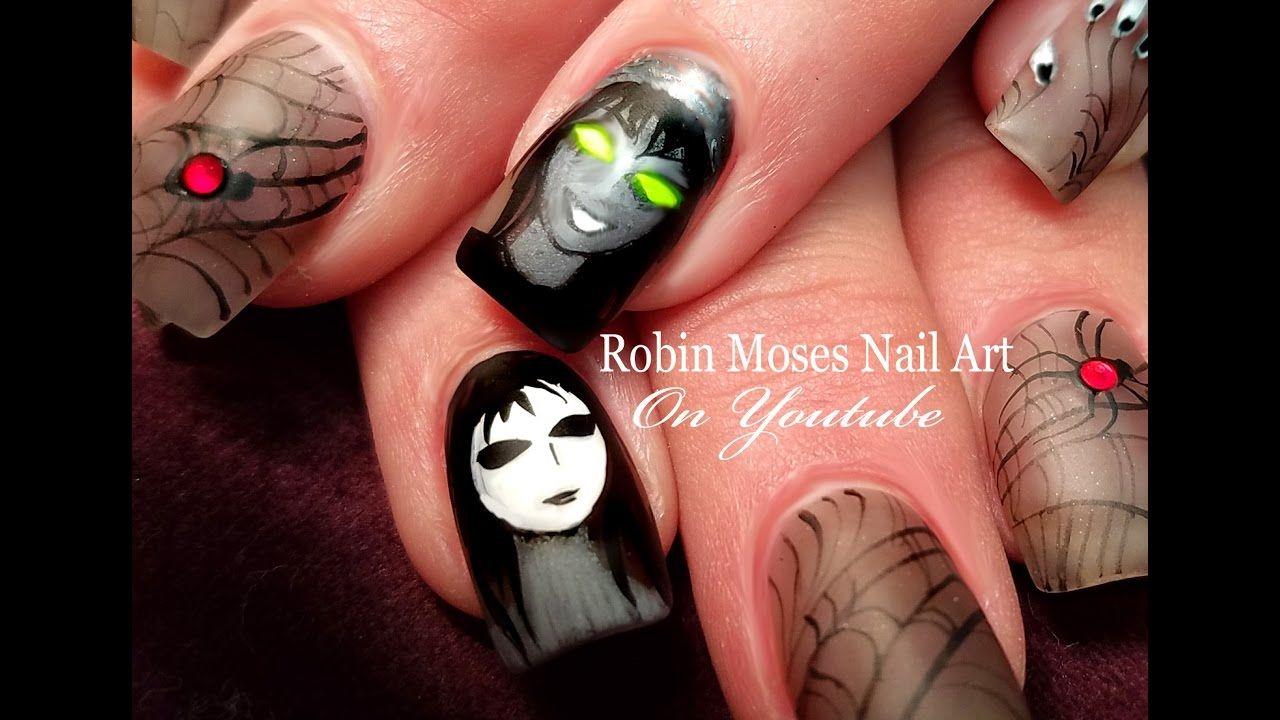 Creepypasta Nail Art Design #nails #nailart #nailsart #diynailart ...