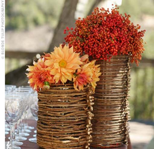 Outdoor Fall Wedding Decorations Ideas: Fall Barbecue Wedding Reception Ideas