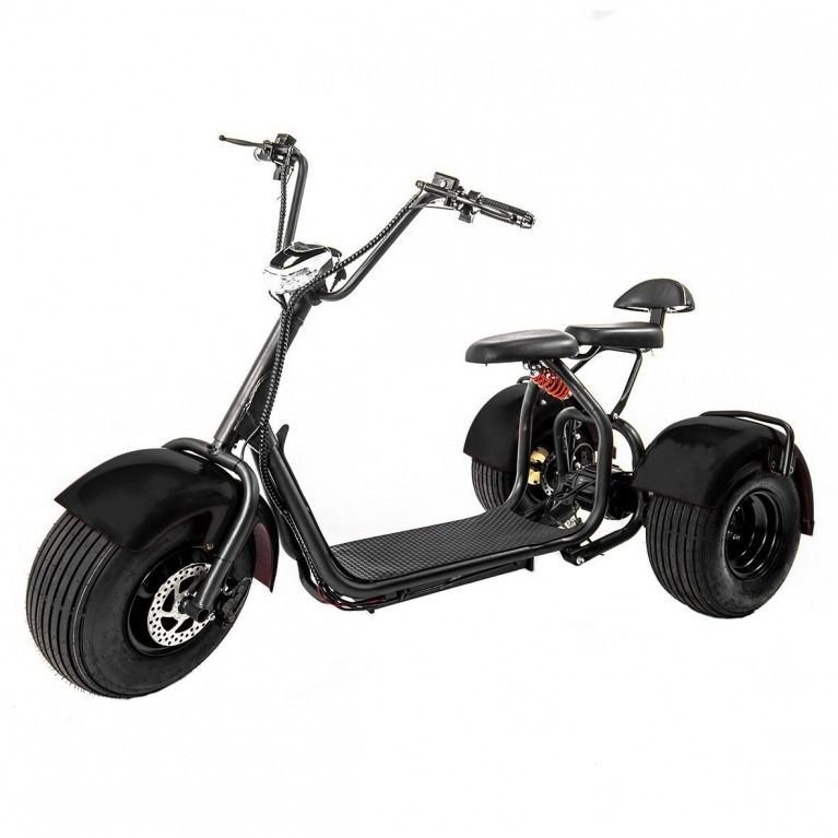 edrift fat tires 3 wheel electric chopper trike scooter. Black Bedroom Furniture Sets. Home Design Ideas