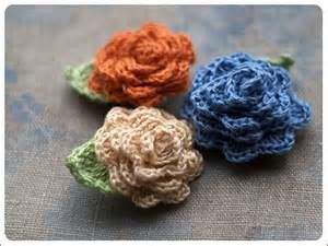 ... Collections > NEW | Linen Collection > Linen Crochet Rose Brooch Small
