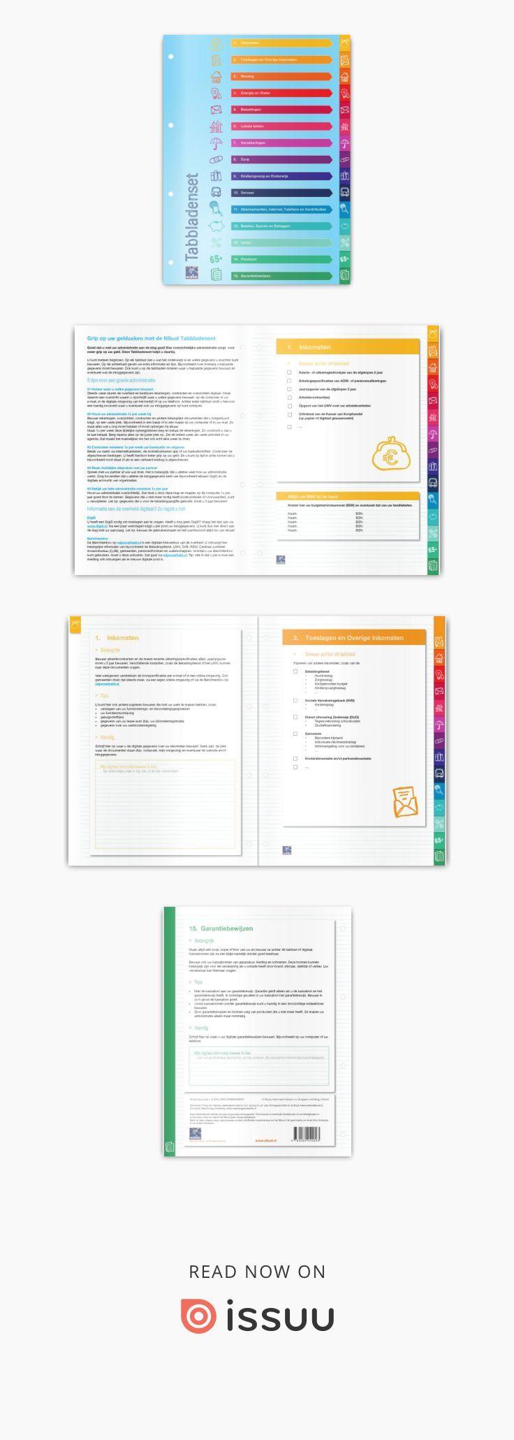 Spiksplinternieuw Preview Nibud tabbladenset (met afbeeldingen) | Opruimen, Tips OJ-79