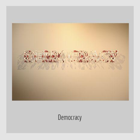 DEMOCRACY. YENY CASANUEVA Y ALEJANDRO GONZÁLEZ. PROYECTO PROCESUAL ART.