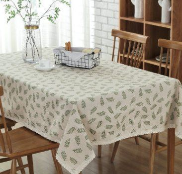 Wfljl Simple Style Tablecloth Cotton Linen Dining Table Coffee
