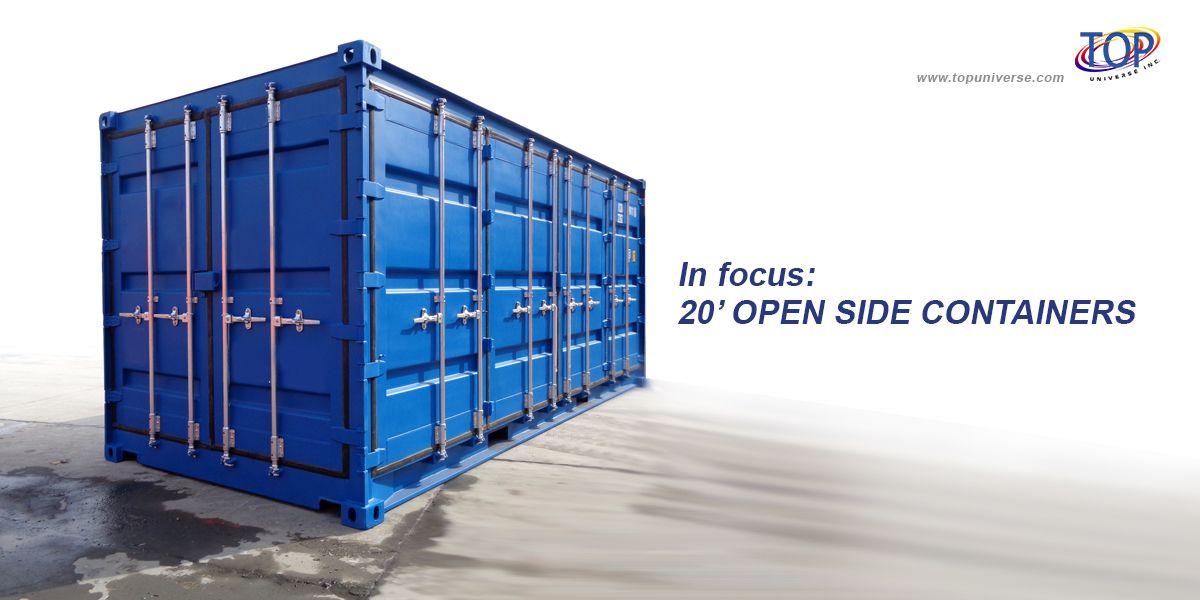Our 20foot open side containers offer a decent 1160cuft