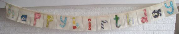 Scrap fabric birthday banner!
