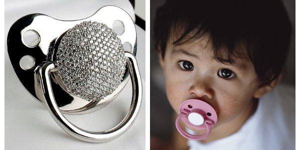 Want to see the world's most expensive pacifier? All $17000 worth ...