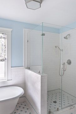 Tile Wainscot Design Note Bottom Of Wall With Vertical Subway Detail And Inset Stripe To Match Floor Color
