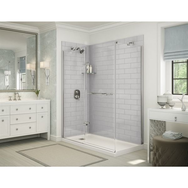 Shop Maax Utile Metro Soft Grey Shower Wall Surround Side Panel at ...