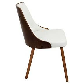 Incredible Gianna Mid Century Modern Walnut Wood Back Dining Chair Wood Lamtechconsult Wood Chair Design Ideas Lamtechconsultcom