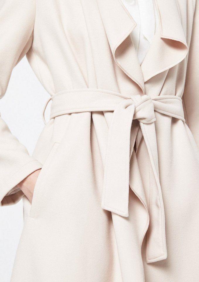 COMMA Weicher Mantel mit Dobbymuster | Produktkatalog