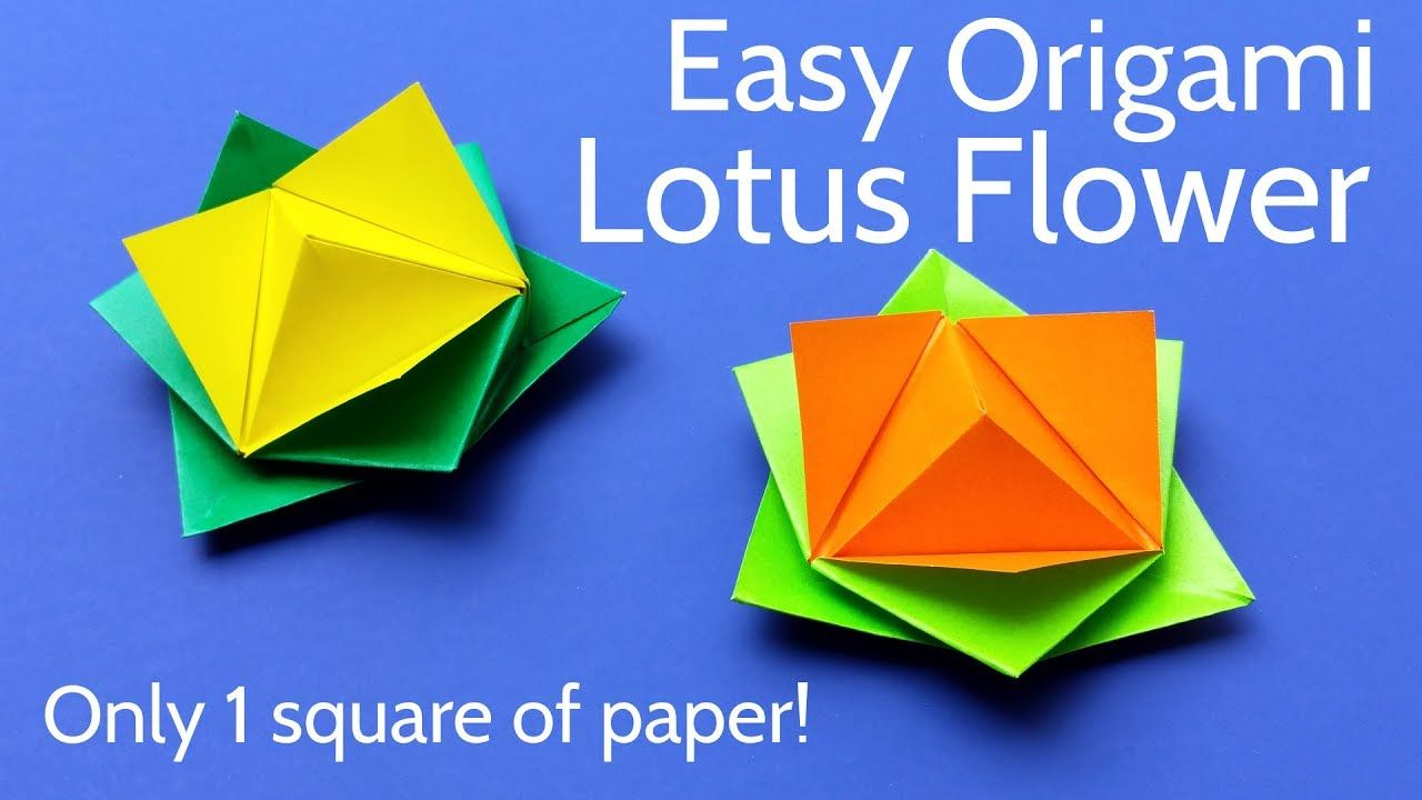Origami lotus flower with 1 square of paper easy tutorial draw origami lotus flower with 1 square of paper easy tutorial izmirmasajfo