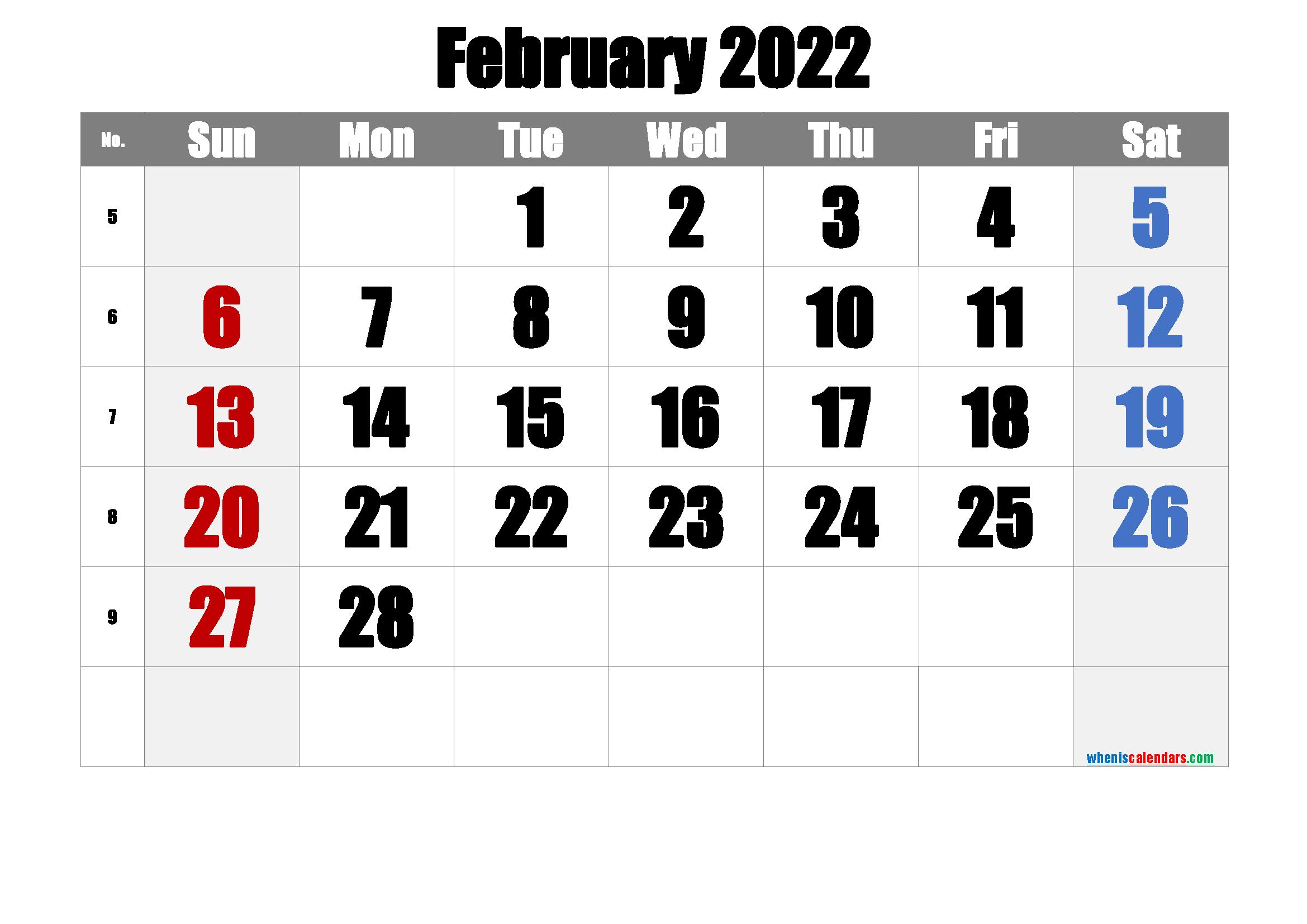 Free February 2022 Calendar 6 Templates In 2020 2021 Calendar Calendar Template Calendar Printables