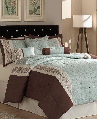 Pem America Ashbery King 7 Piece Comforter Bed In A Bag Set