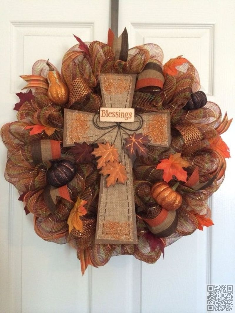 36 Fall Blessings 55 Awesome Wreaths To Adorn Your