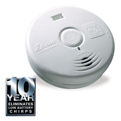 Kidde Smoke Alarm is powered by sealed, long-life lithium batteries for ten years (the life of the alarm), meaning the alarm is always on. This Smoke Alarm is ideal for the hallway. This ten year smoke has super bright LEDs to provide lighted escape path....Learn More