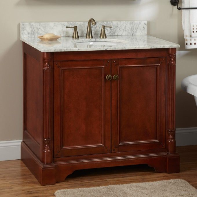 "36"" Trevett Vanity For Undermount Sink  Cherry  Bathroom Unique Cherry Bathroom Vanity 2018"