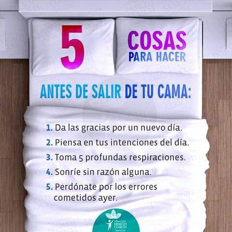 5 cosas que debes hacer al despertar