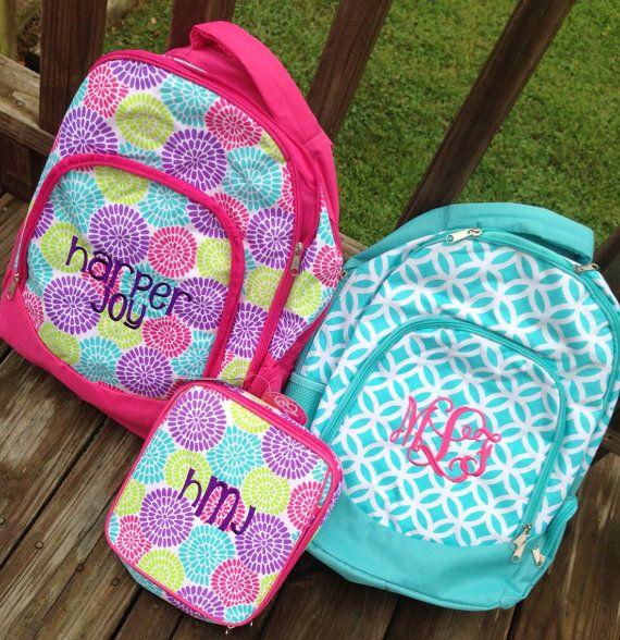 Personalize backpack, monogrammed book bag, back to school Backpack,School Bag, Girls, School Backpack on Etsy, $29.99