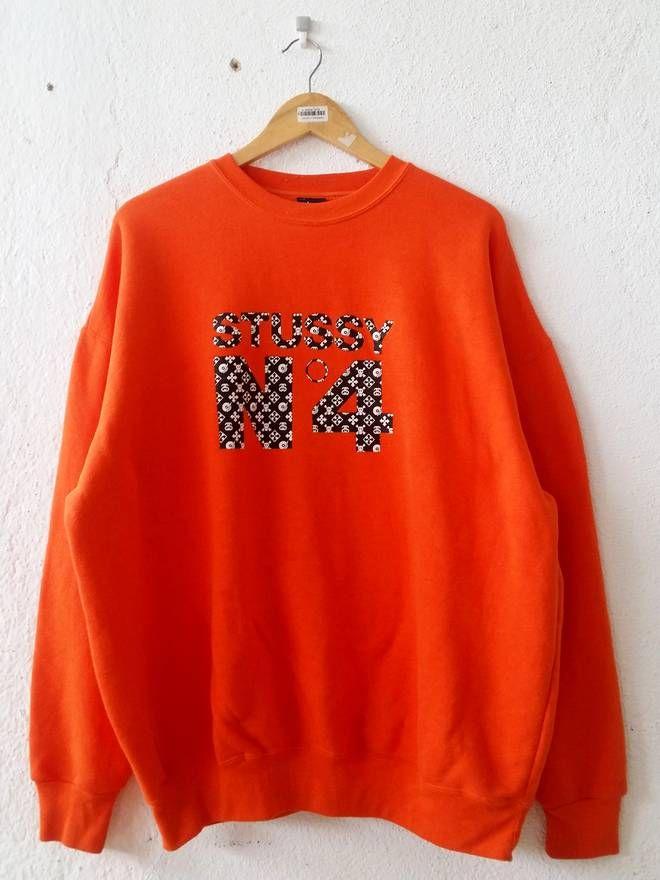 Stussy Sweatshirt Big Logo Spell Out Large QQXSMo