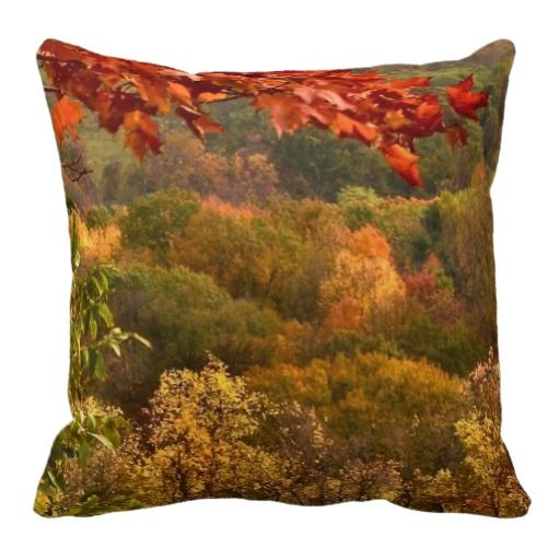 Autumn Abstract Pillows #autumn #fall #pillow
