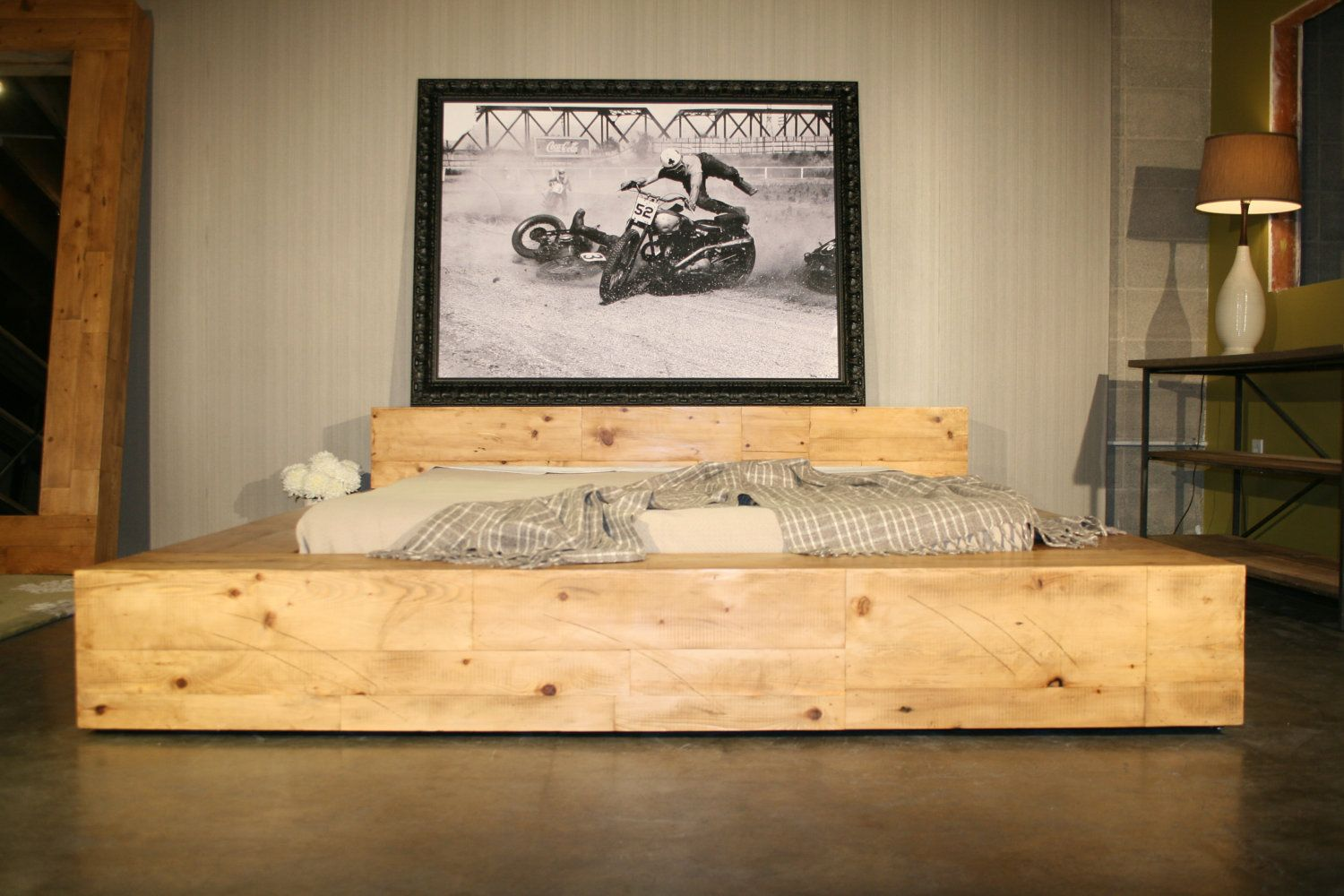 Reclaimed Wood Beam Bed Handmade With Reclaimed Pine From Nyc 2 Via Etsy For The