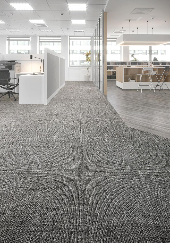 Carpet Tile Interthread Tile Light Slate Mohawk Group In