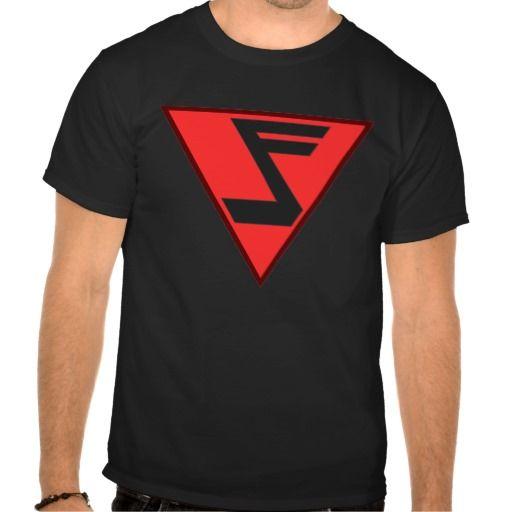 Musicman, the musical superhero. Music note logo T Shirts.