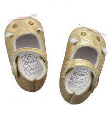 Little Marc Jacobs Gold Ballerina Shoe