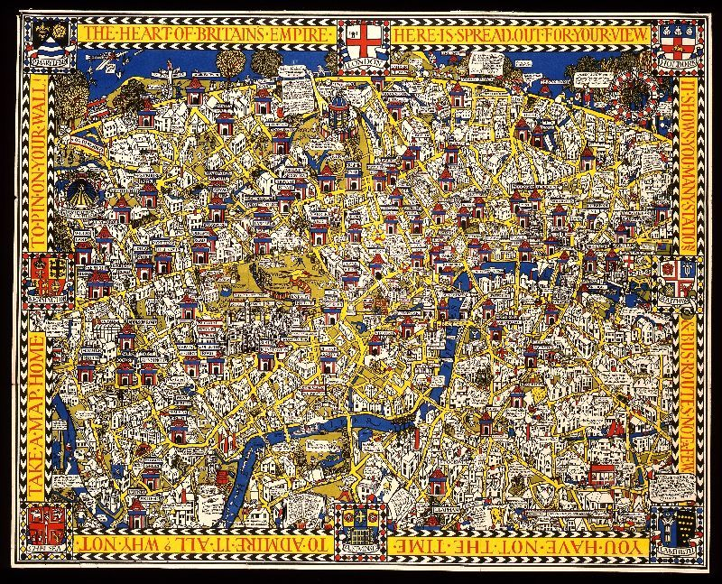 u201cThe Wonderground Map of London Townu201d the