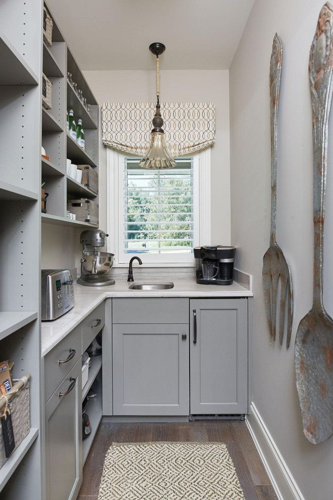 Classic Family Home with Paint Colors pantrys Kitchen