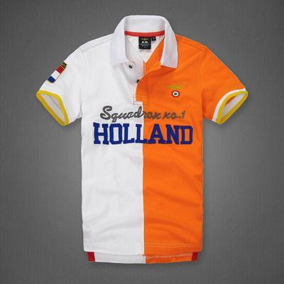 polo ralph lauren discount Aeronautica Militare Holland Half Split Short  Sleeve Polo Shirt White Orange http b42ef11d6