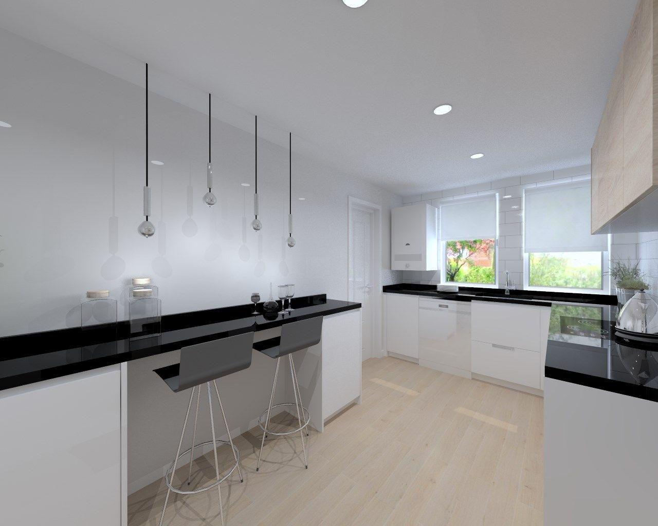 Cocina santos modelo line estratificado blanco con for Encimera de cocina lacada en blanco negro