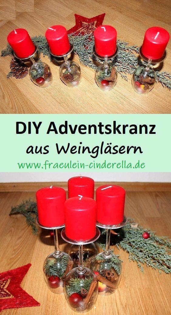 DIY Adventskranz basteln – Kreative Idee zum Selbermachen – Weihnachtsdeko  DIY …,  #Advent…