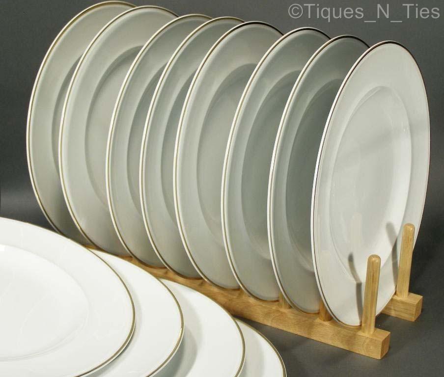 Set Of 12 Pottery Barn Large Dinner Plates White Porcelain