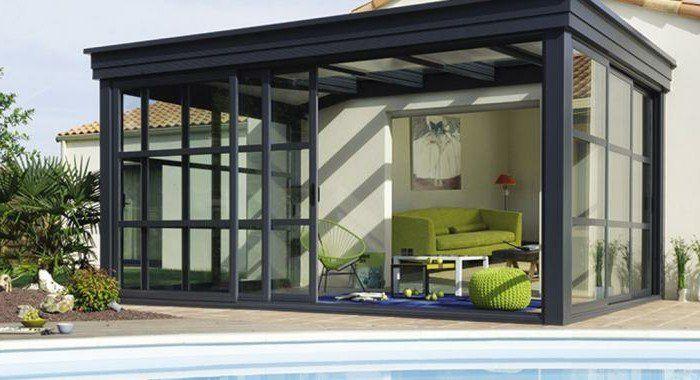 Veranda concpet alu gamme homéa veranda alu design contemporain lignes