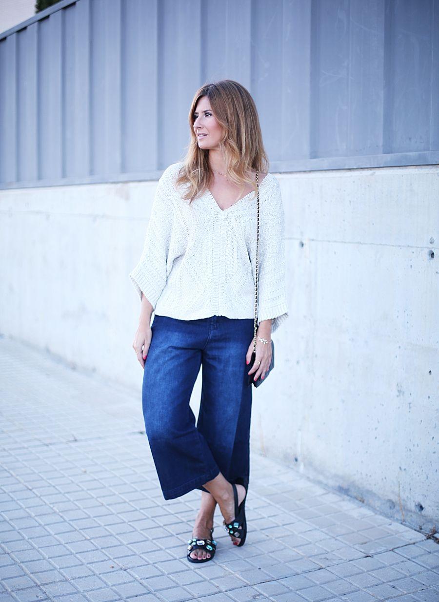 Jeans culotte and chanel woc looks pinterest culotte pants