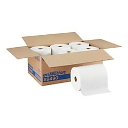 Enmotion By Gp Pro Paper Towel Rolls 10 X 800 40 Recycled White Pack Of 6 Rolls Paper Towel Rolls Towel How To Roll Towels