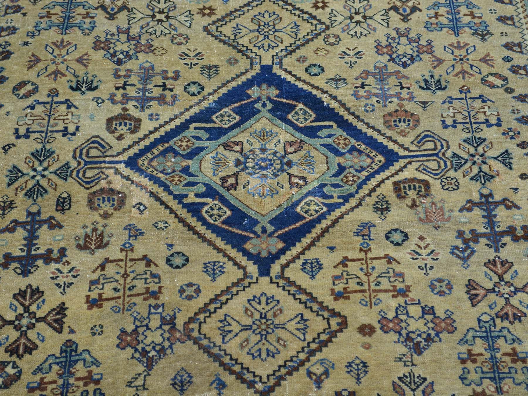 "Buy 4'1""x5'4"" Antique Persian Qashqai with Some Repairs Good Cond Rug #rug #rugstore #rugsale #arearug #rugcleaning #rugwash #rugshopping #rugrepair #carpetcleaning"