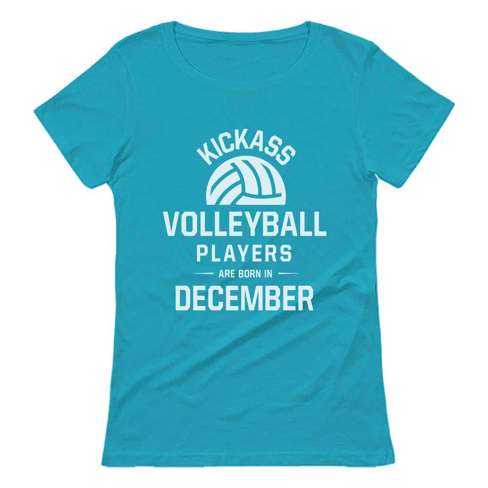 Volleyball Players Are Born In December Women T Shirt T Shirts For Women Volleyball Players Funny Hoodies
